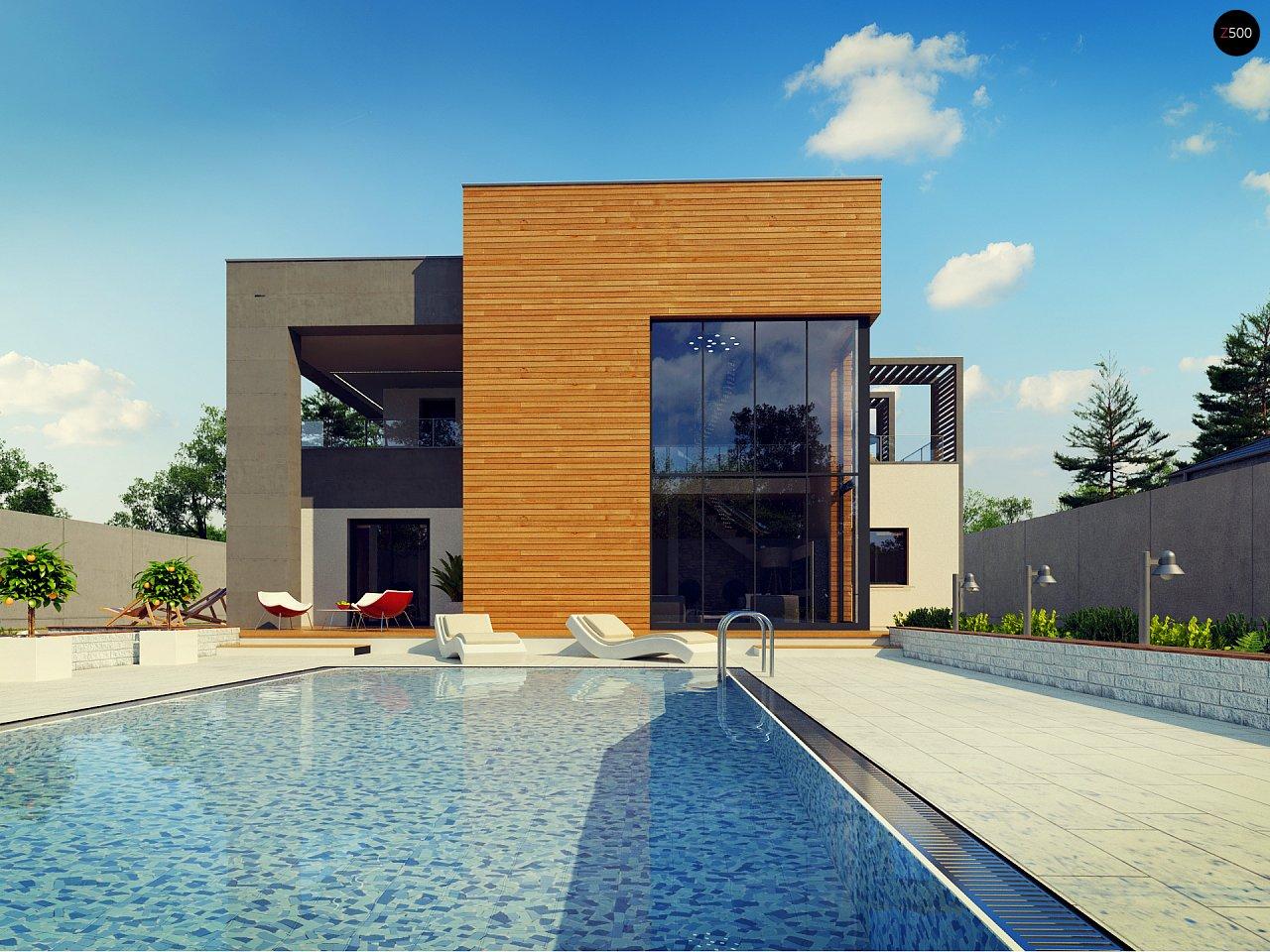 Современный двухэтажный дом с большой площадью остекления. - фото 14