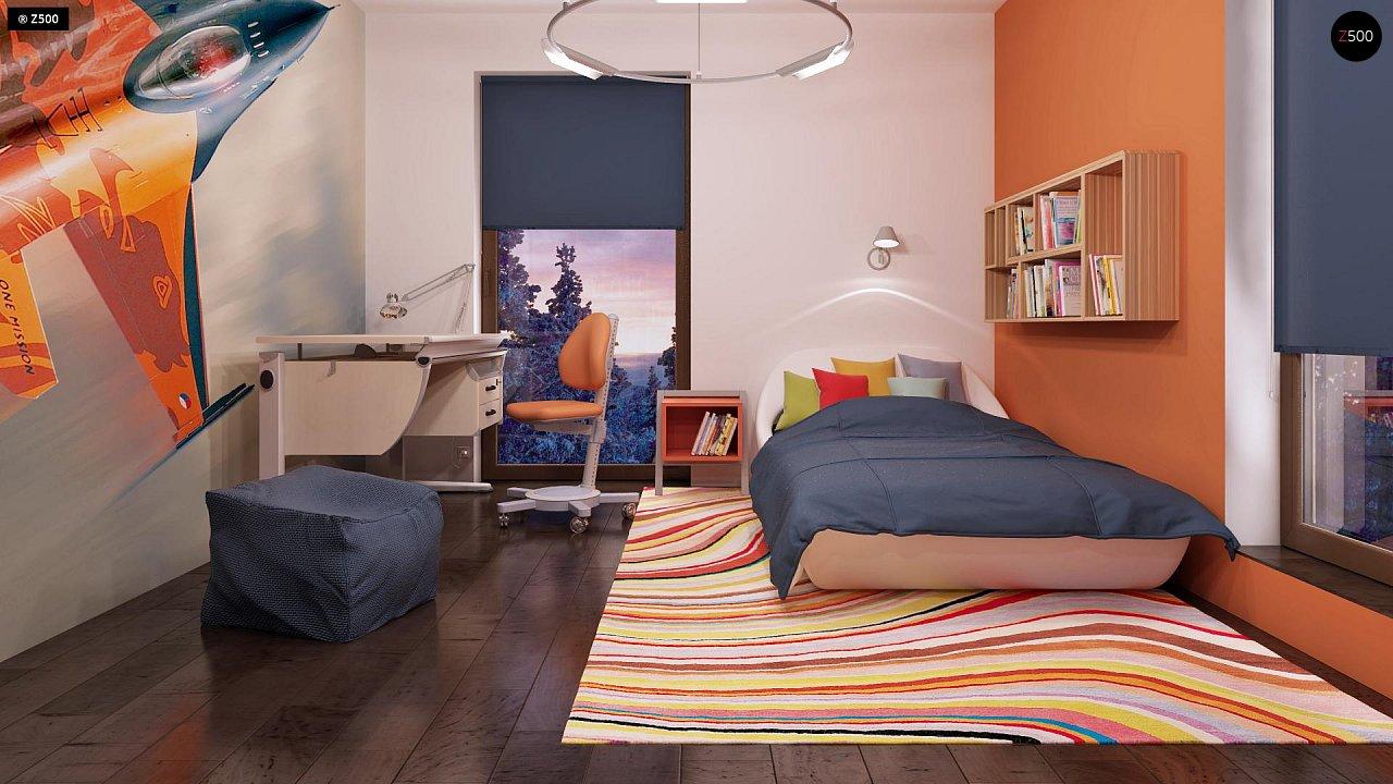Дом характерного современного дизайна с гаражом и кабинетом на первом этаже. - фото 37