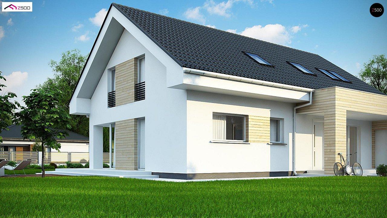 Проект мансардного дома в европейском стиле с балконом. - фото 6