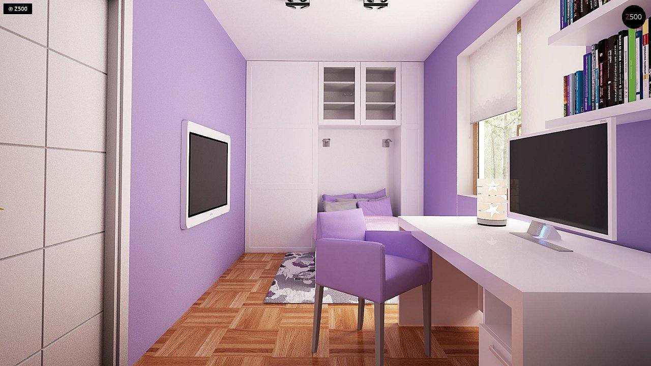 Небольшой одноэтажный дом с оригинальным оформлением террас. 12