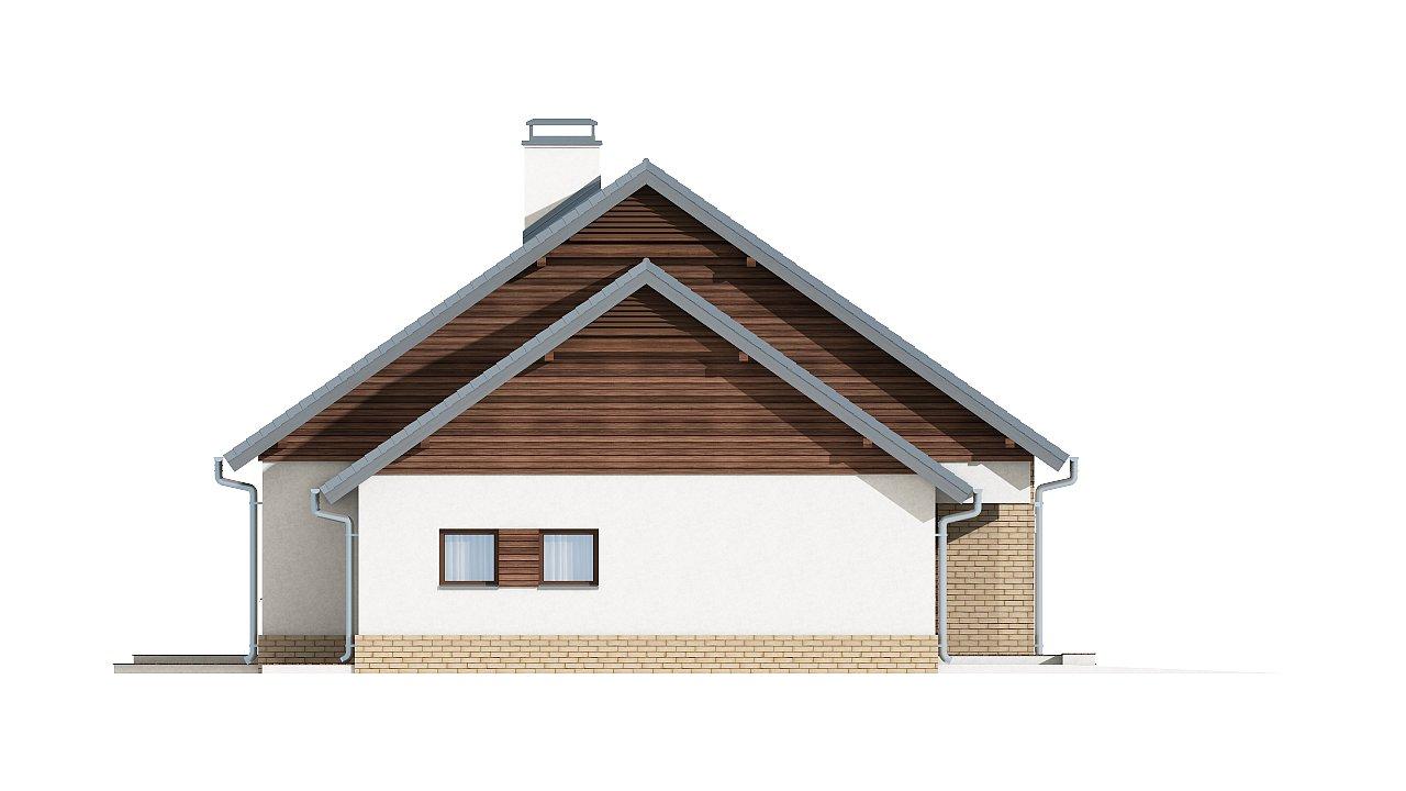 Проект традиционного одноэтажного дома с возможностью обустройства мансарды. 17