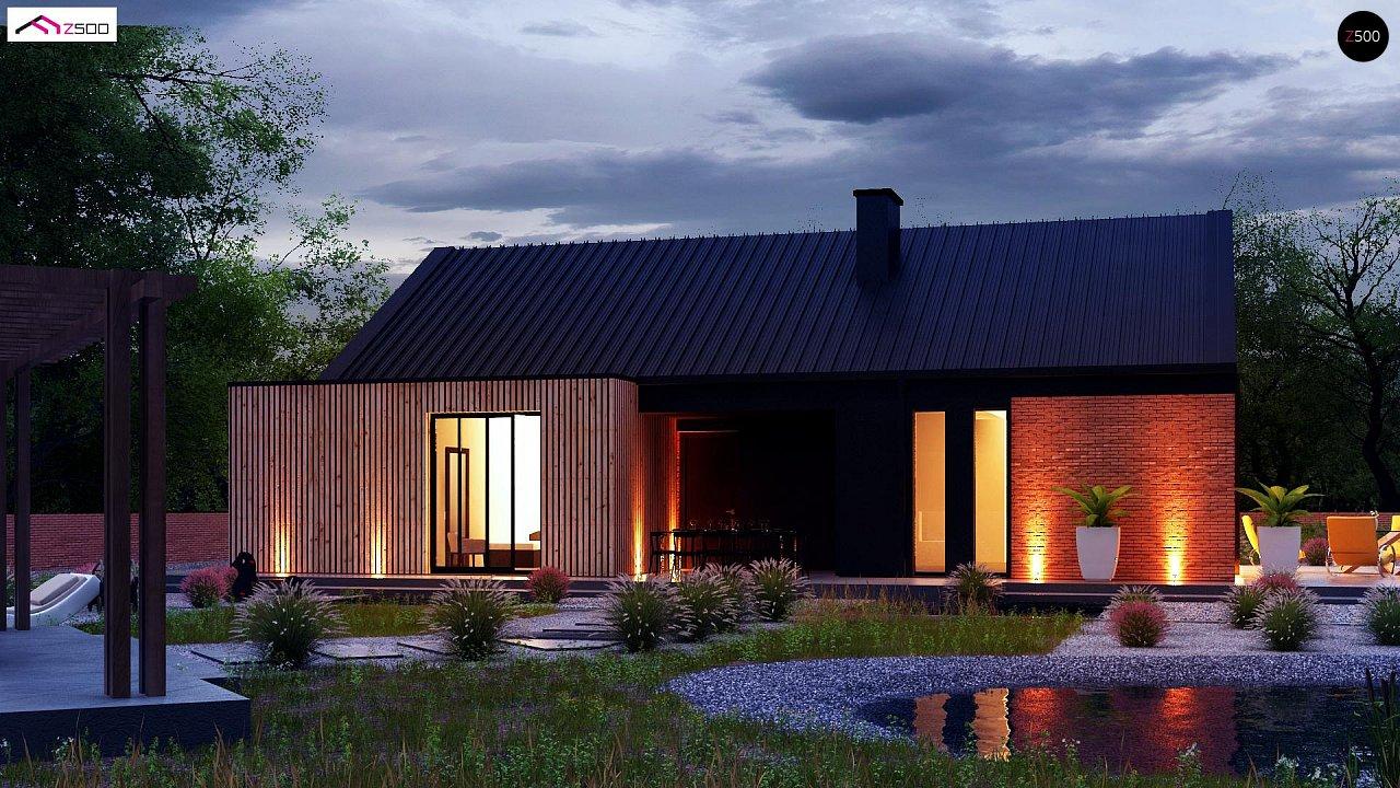 Одноэтажный дом с дополнительным пространством на чердаке 4