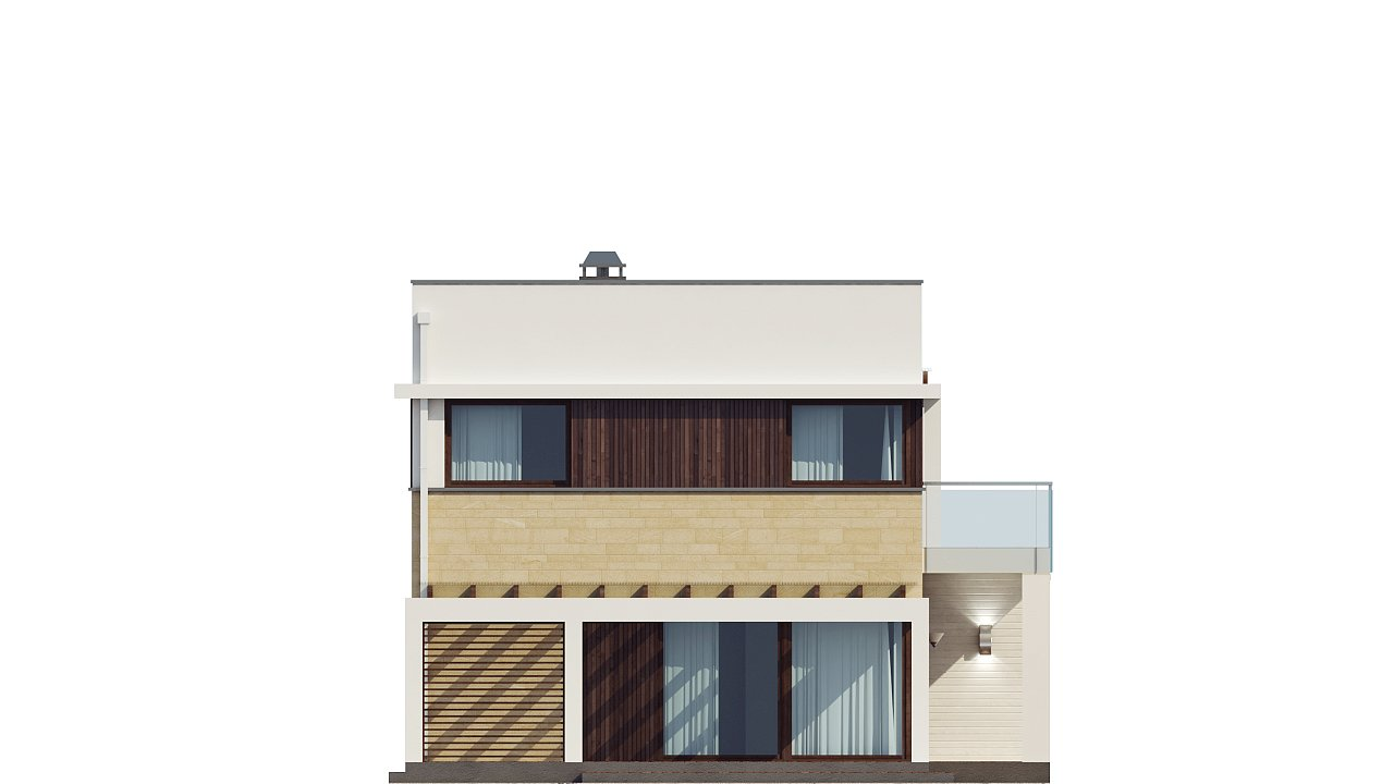 Современный элегантный дом с гостиной с фронтальной стороны. - фото 35