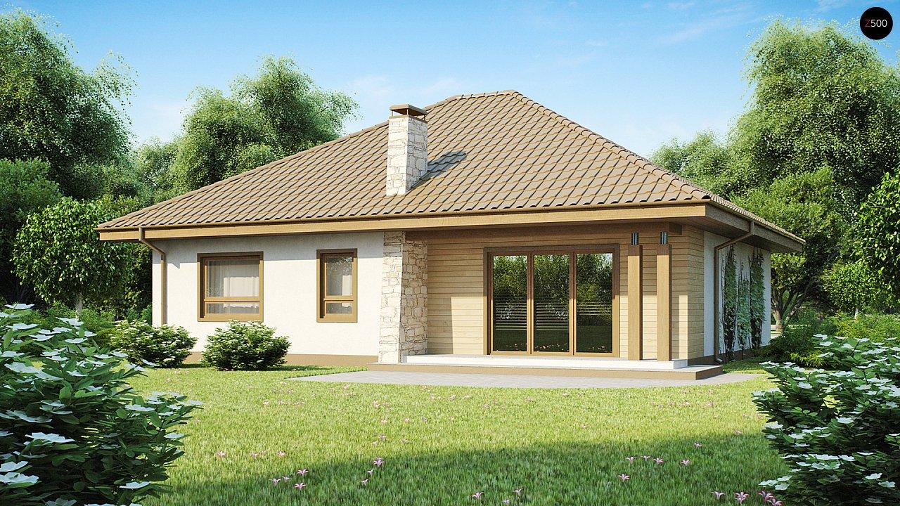 Практичный одноэтажный дом с большим гаражом, просторной гостиной и двумя спальнями. 1