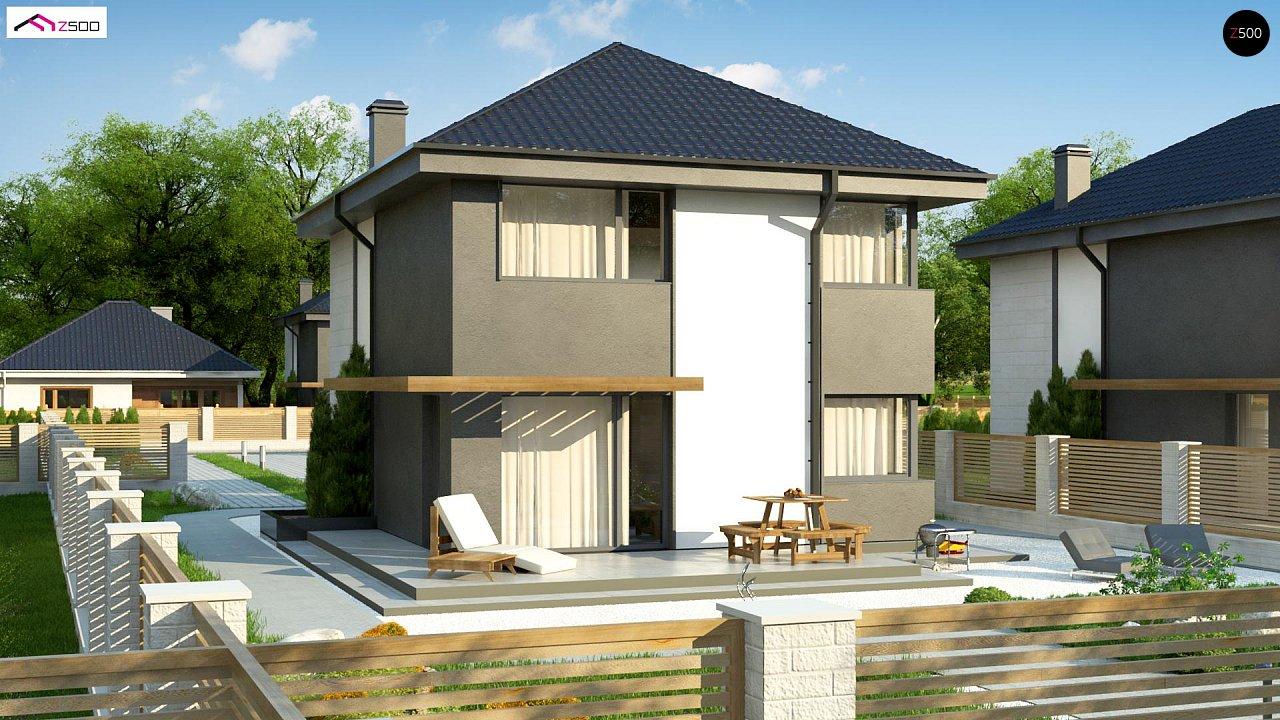 Современный двухэтажный дом с практичной планировкой 3
