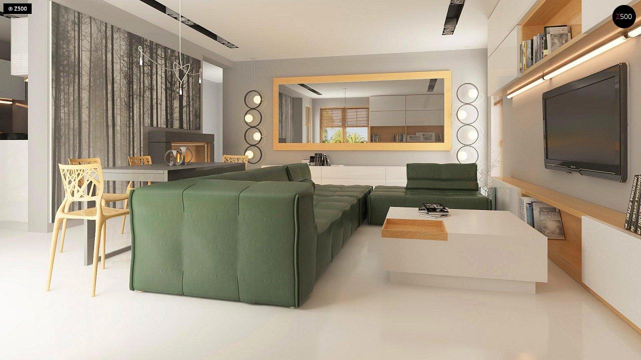 Прекрасное сочетание строгих минималистичных форм и уютного практичного интерьера. 5