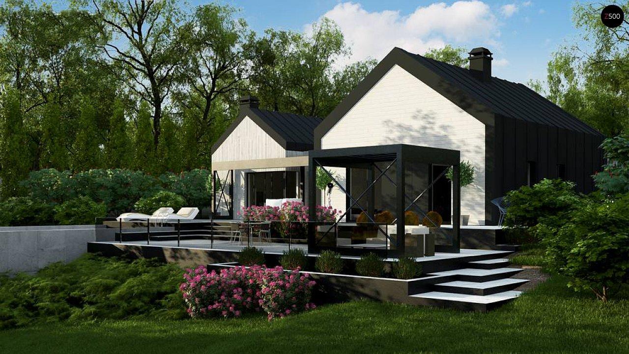 Одноэтажный дом состоящий из двух частей. - фото 3