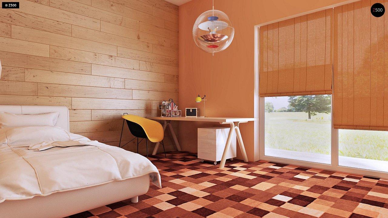 Одноэтажный практичный дом с плоской крышей современного дизайна. 7