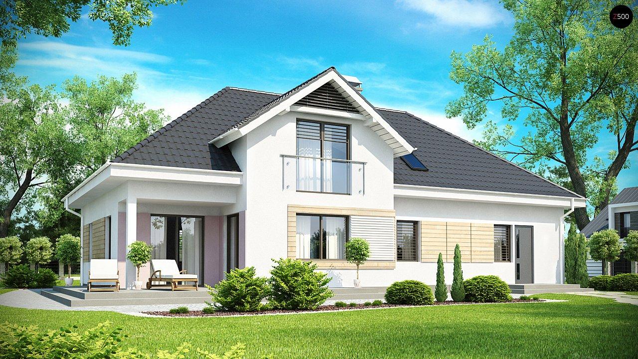 Комфортный стильный дом с большим гаражом для двух автомобилей и дополнительной комнатой над ним. 2