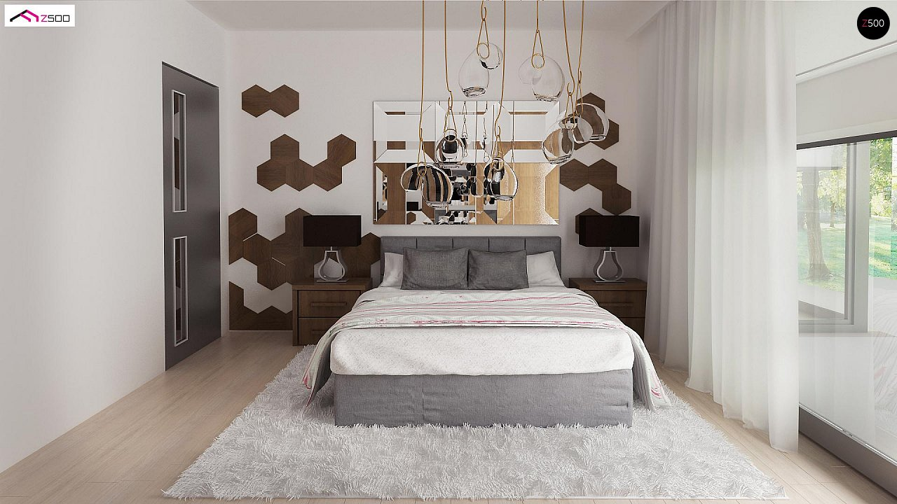 Комфортный современный дом со светлым и уютным интерьером. 11