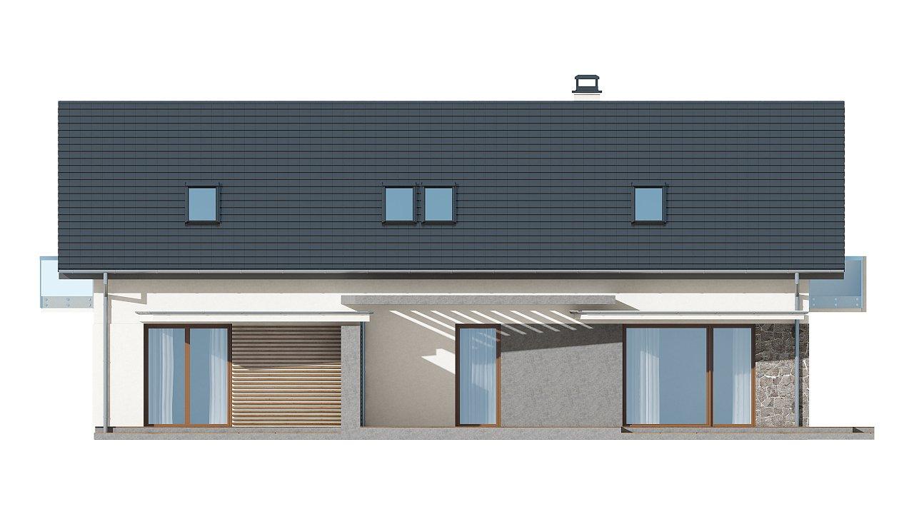 Простой и функциональный двухсемейный дом с отдельными входами. - фото 16