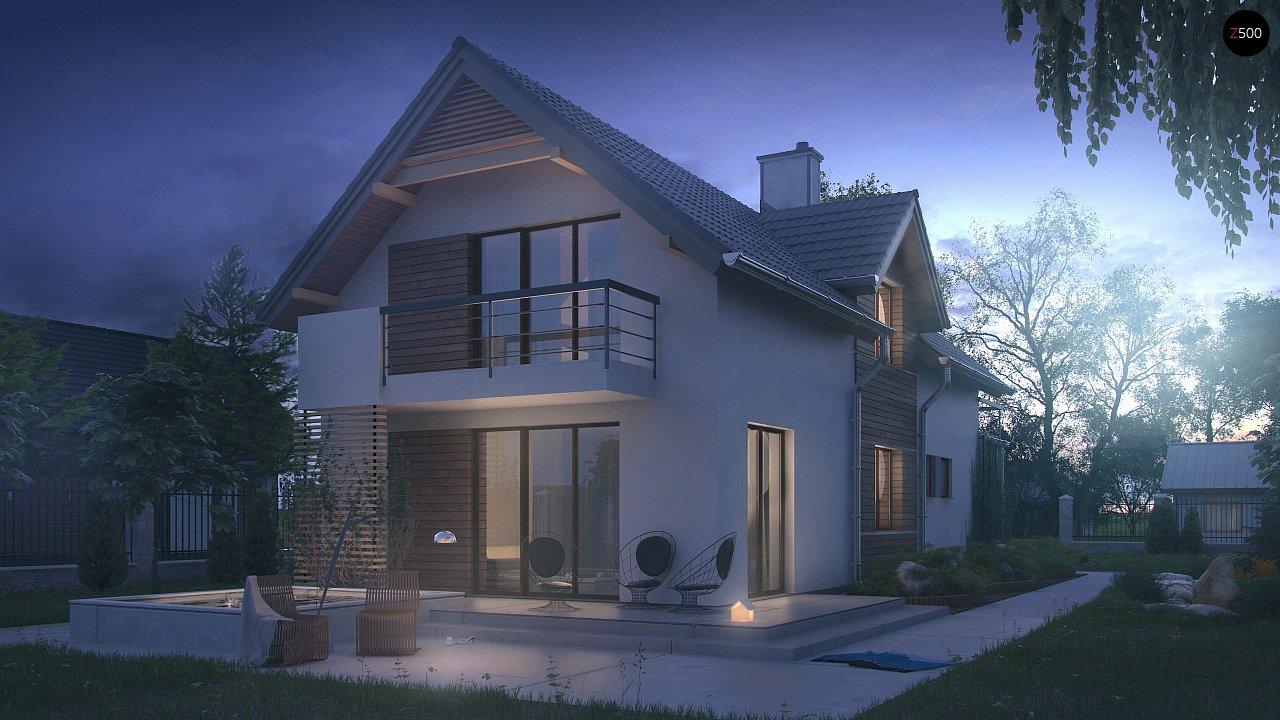 Функциональный и привлекательный дом с гаражом для узкого участка. 4