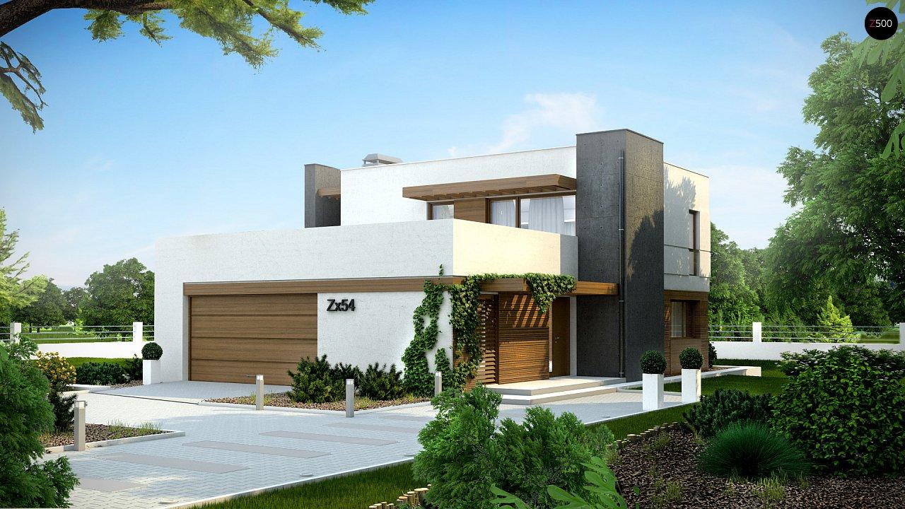 Комфортный современный дом с гаражом для двух авто и обширной террасой на втором этаже. - фото 2