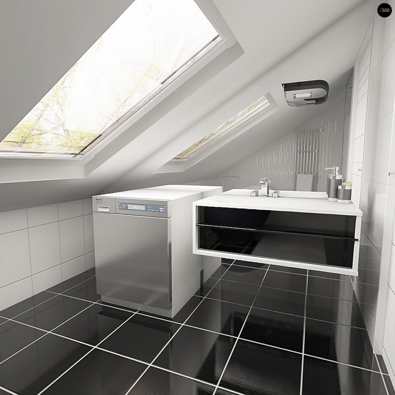 Практичный аккуратный дом с мансардой, со встроенным гаражом для одной машины. - фото 10