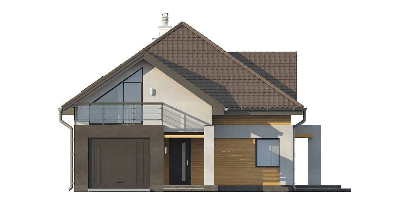 Необычные мансардные окна, фронтальный гараж и современные фасады выделяют этот проект среди остальных. 14