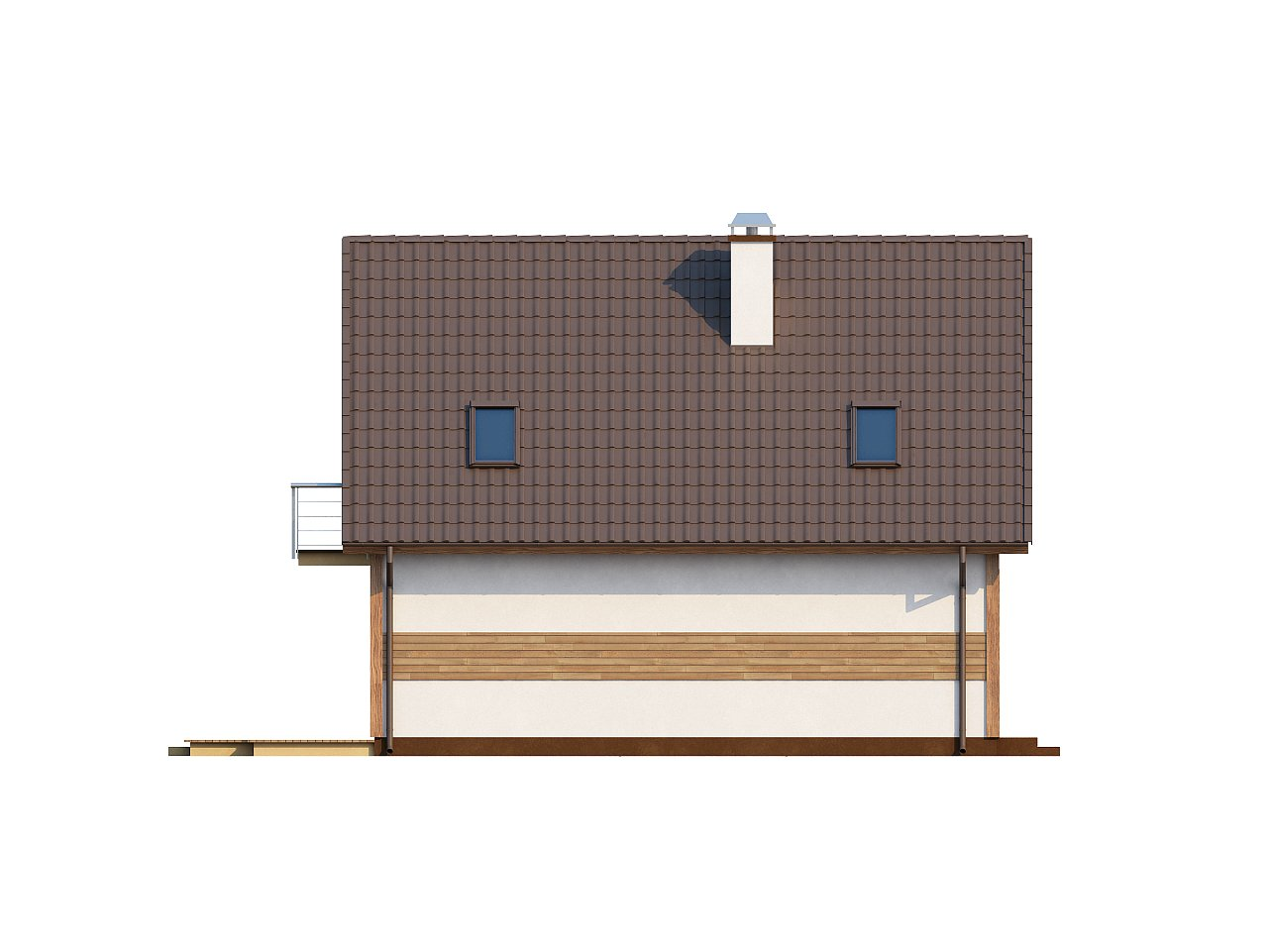 Предложение выгодного и практичного дома, подходящего для удлиненного или, наоборот, неглубокого участка. 5