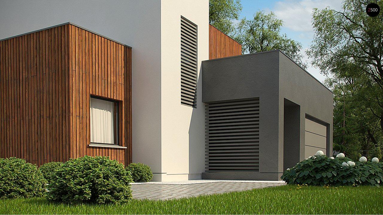 Современный дом с гаражом на 2 машины и террасой на первой 4