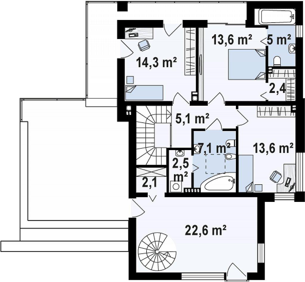 Комфортный современный дом с дополнительным помещением для коммерческого использования. план помещений 2