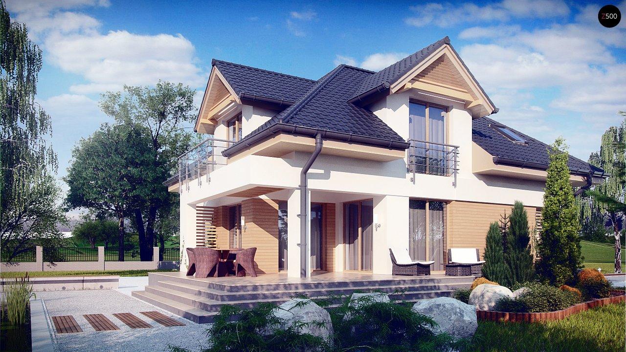 Комфортный дом привлекательного дизайна с дополнительной комнатой над гаражом. 3