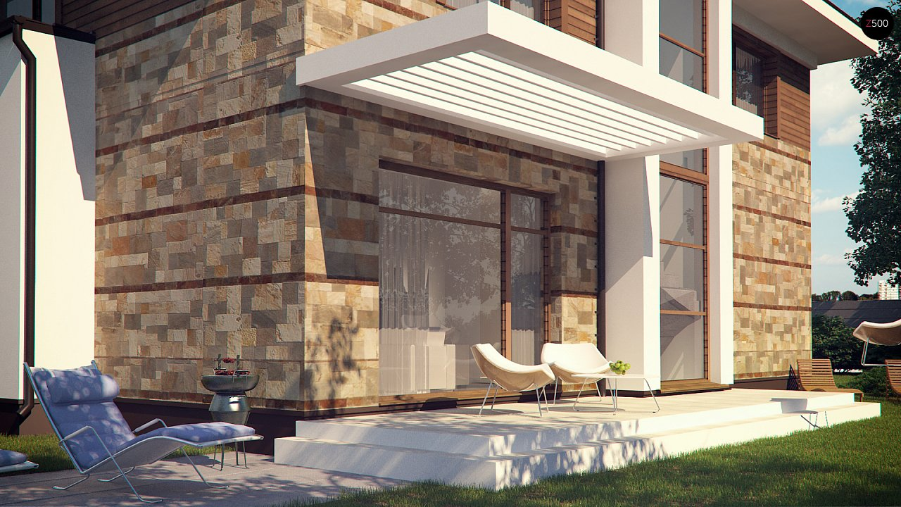 Проект двухэтажного дома с гаражом для двух авто, с баней - фото 6