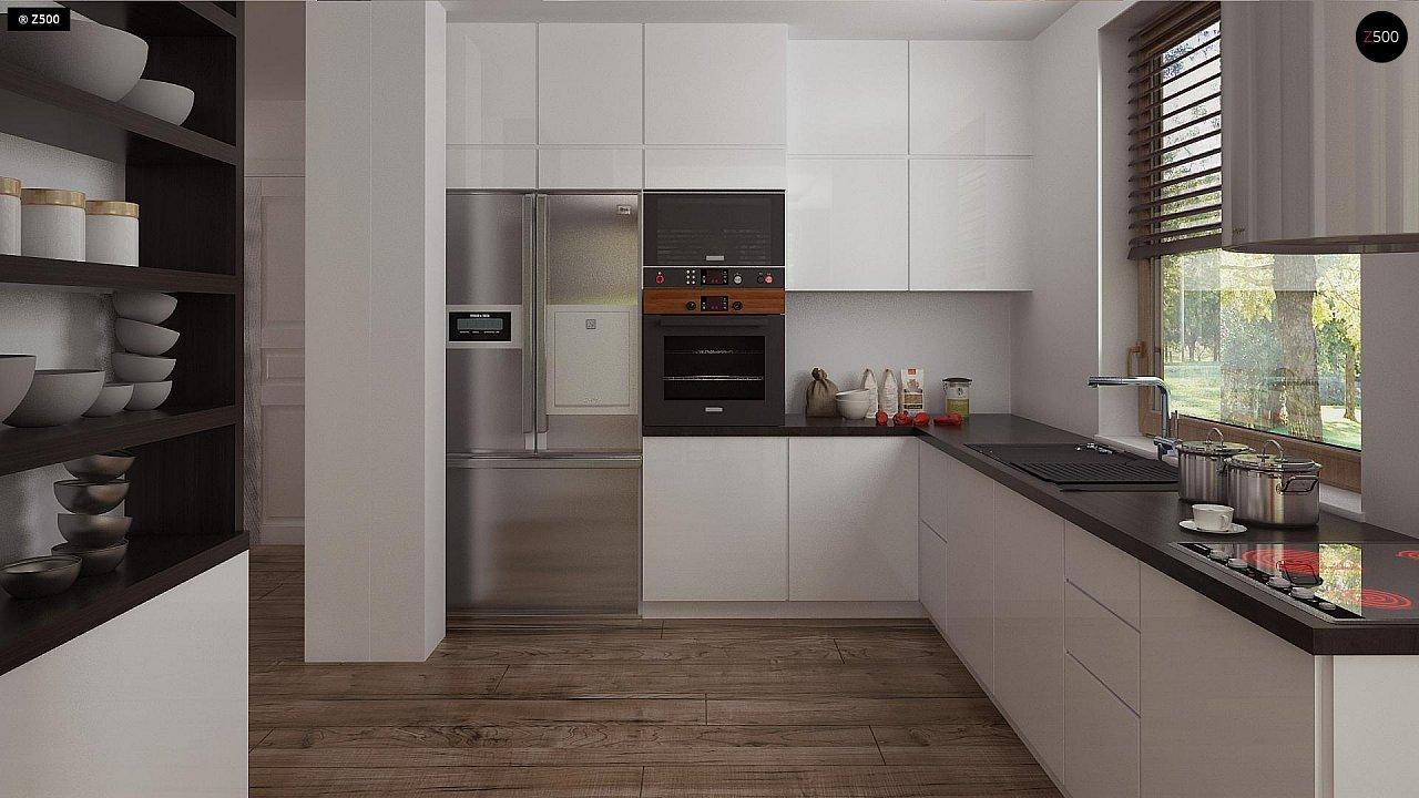 Функциональный аккуратный дом с мансардой, также для узкого участка. 9