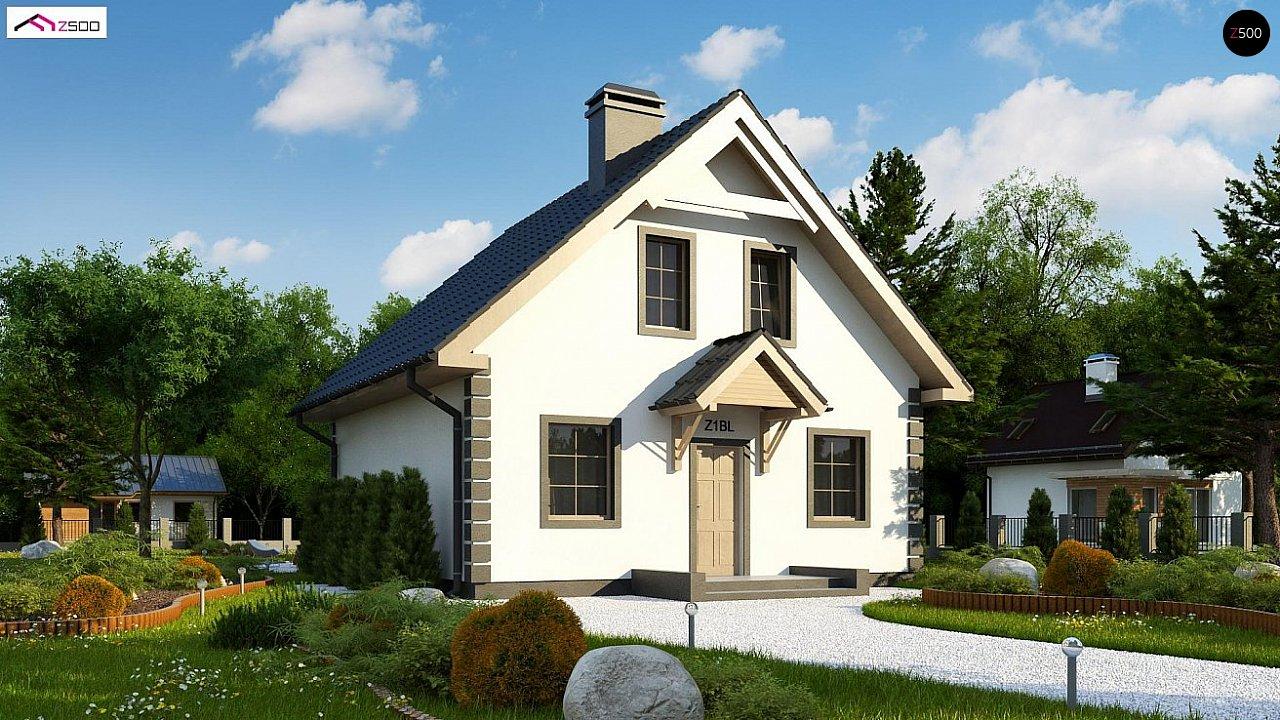Версия проекта дома Z1 без люкарен. 2