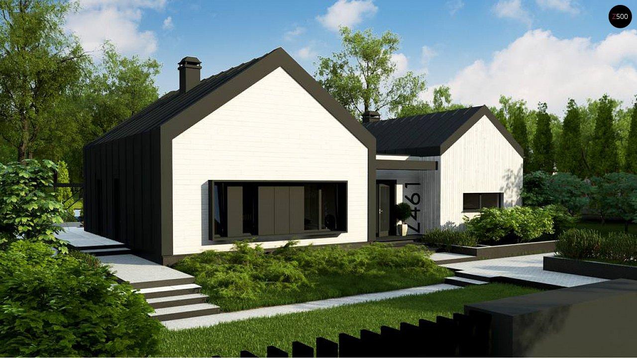 Одноэтажный дом состоящий из двух частей. - фото 1