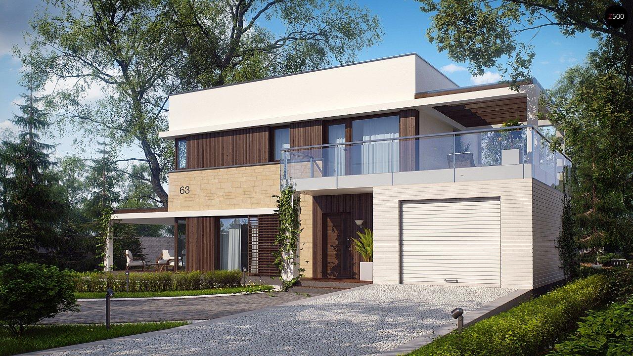 Современный элегантный дом с гостиной с фронтальной стороны. - фото 1