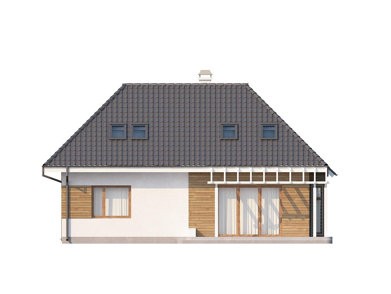 Проект функционального дома с дополнительной небольшой ночной зоной на первом этаже. - фото 4