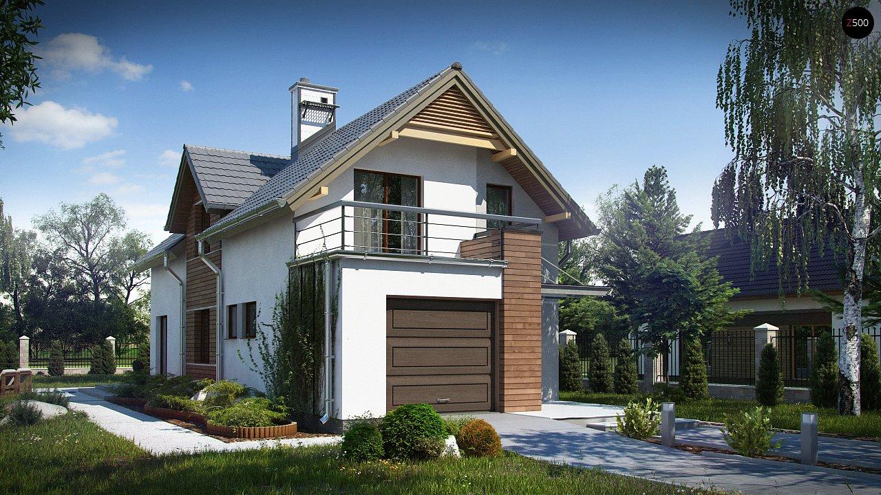 Функциональный и привлекательный дом с гаражом для узкого участка. 2