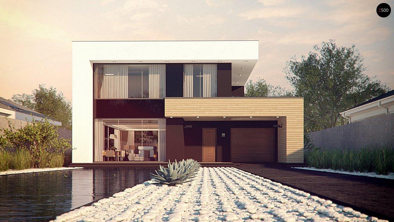 Респектабельный большой дом в модернистском стиле с подвалом. 2