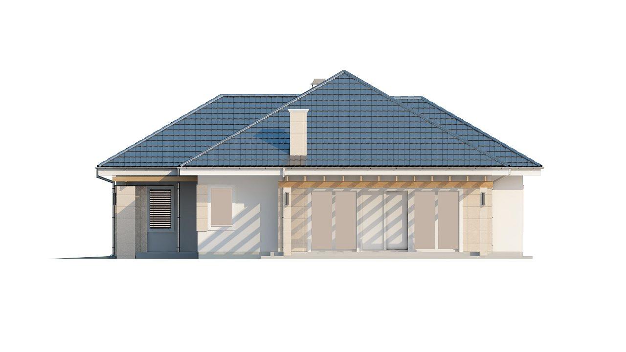 Практичный одноэтажный дом с гаражом для одной машины и возможностью адаптации чердачного помещения. - фото 4