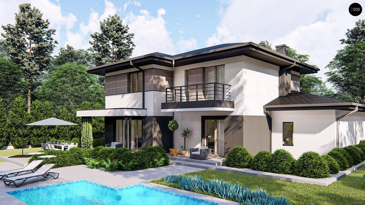 Вариант двухэтажного дома Z426 с многоскатной крышей 3