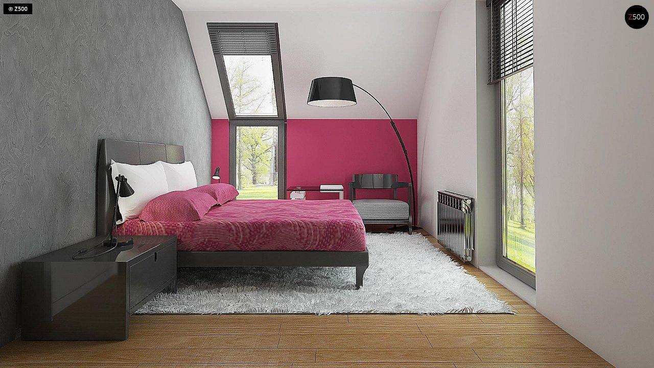 Дом простой энергосберегающей формы со светлым интерьером, подходящий для узкого участка. - фото 10