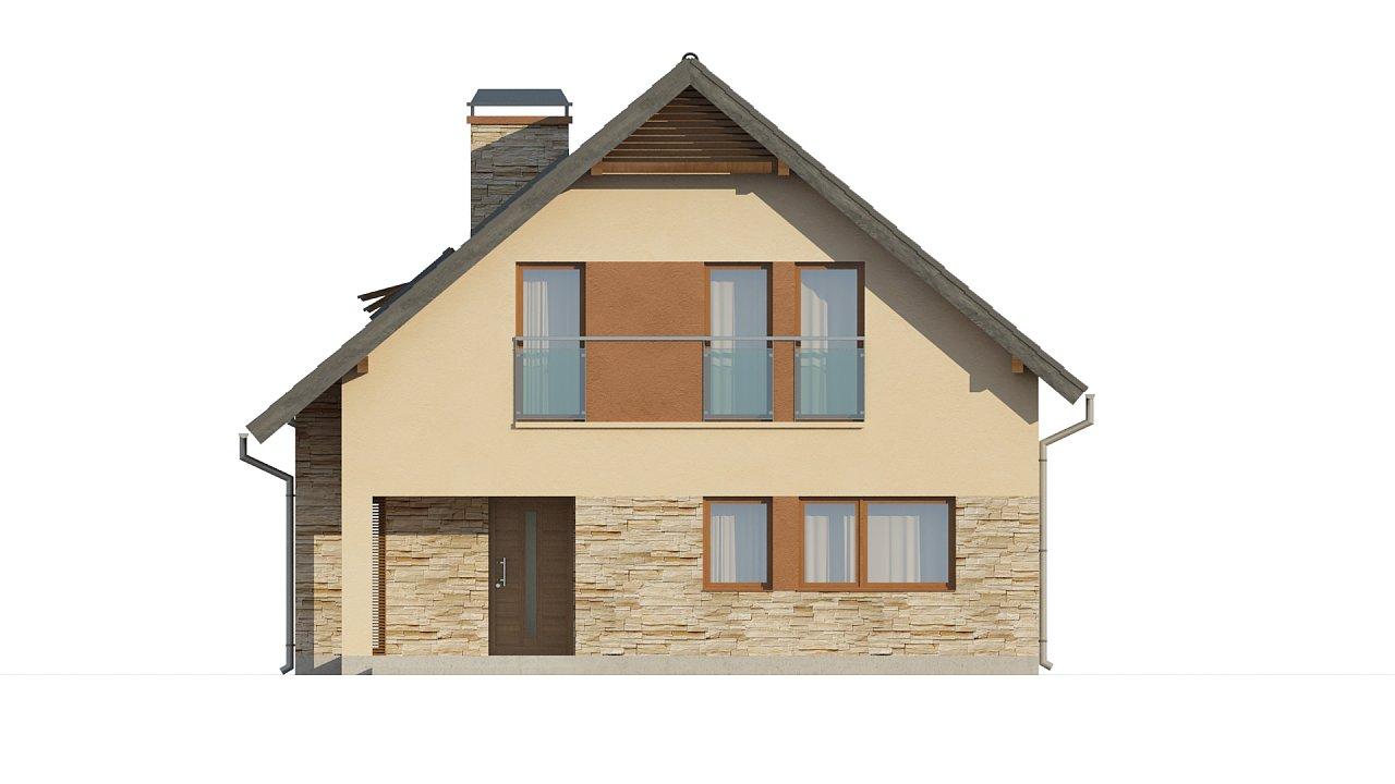 Проект аккуратного и удобного дома с мансардой. - фото 3