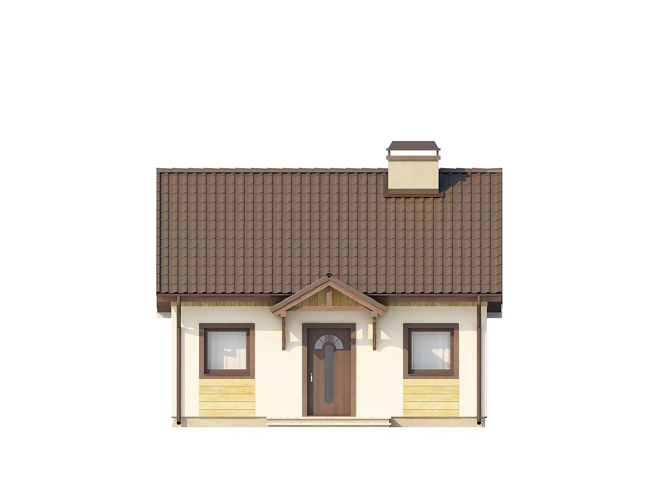 Выгодный в строительстве и эксплуатации маленький одноэтажный дом с крытой террасой. 11