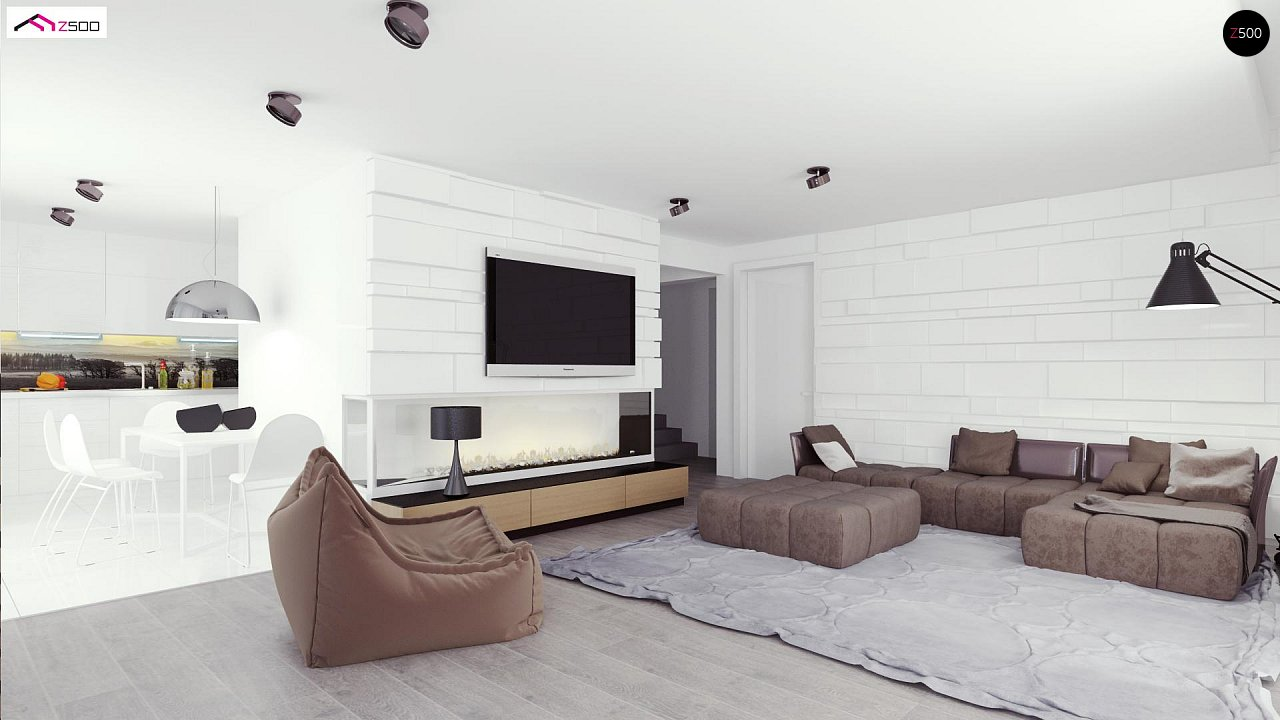 Просторный и комфортный двухэтажный дом с большими окнами. 3
