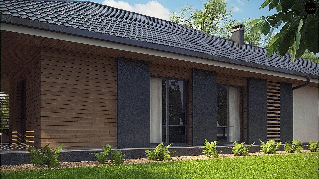 Одноэтажный дом в современном стиле с двойным гаражом 10