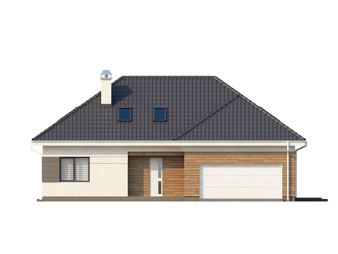 Просторный дом традиционной формы с гаражом и дополнительной небольшой ночной зоной на первом этаже. - фото 13