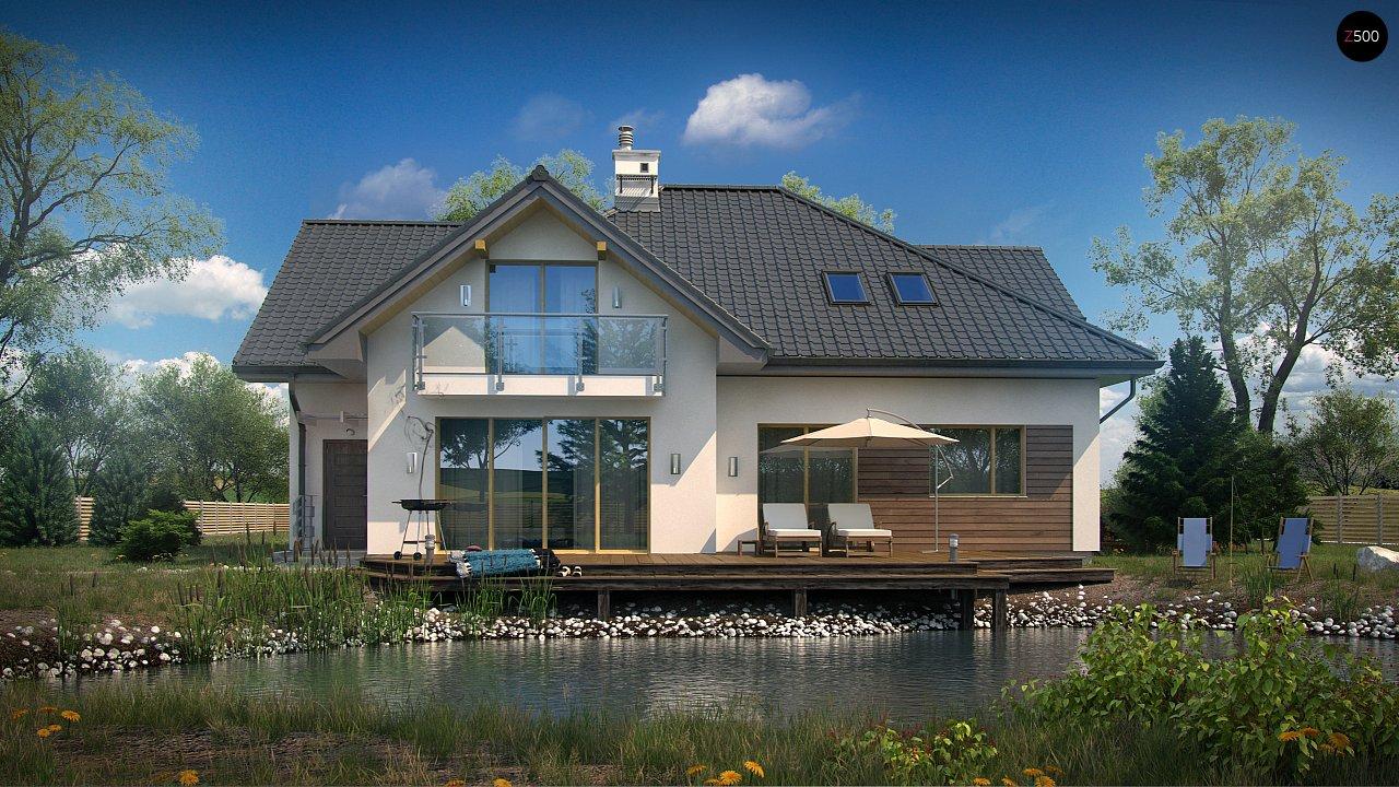 Просторный дом с большими фасадными окнами, с гаражом для двух автомобилей. - фото 3
