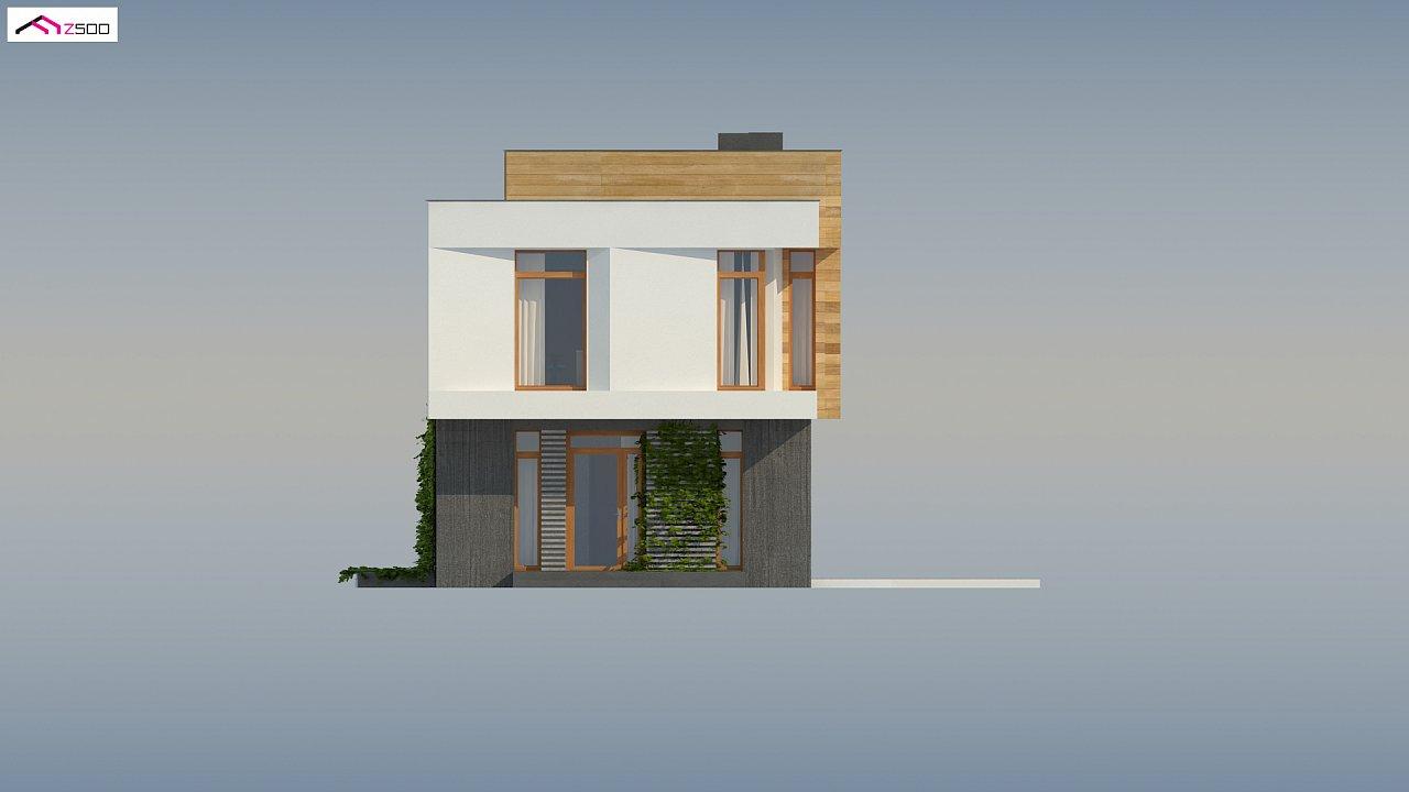 Проект двухэтажного дома в стиле кубизм, подходит для строительства на узком участке. - фото 10