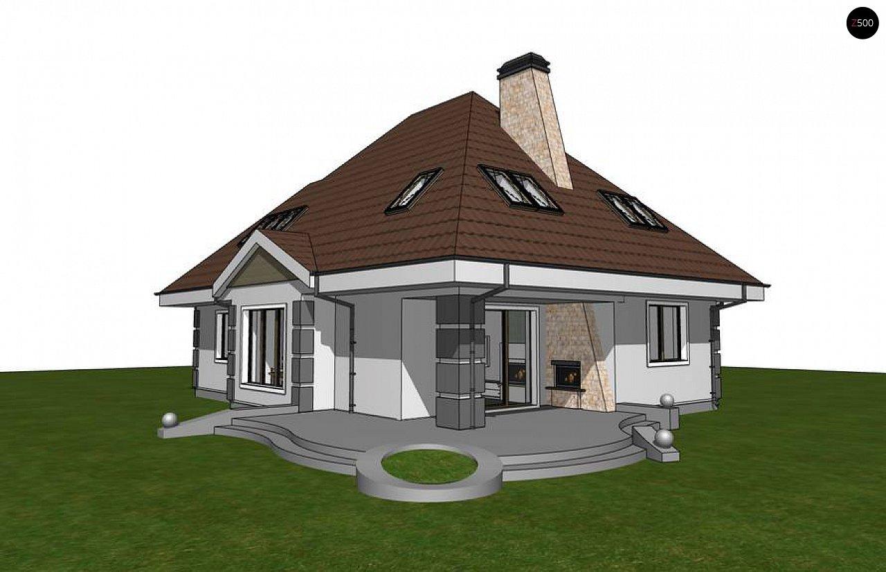 Вариант мансардного дома Z48 без гаража - фото 3
