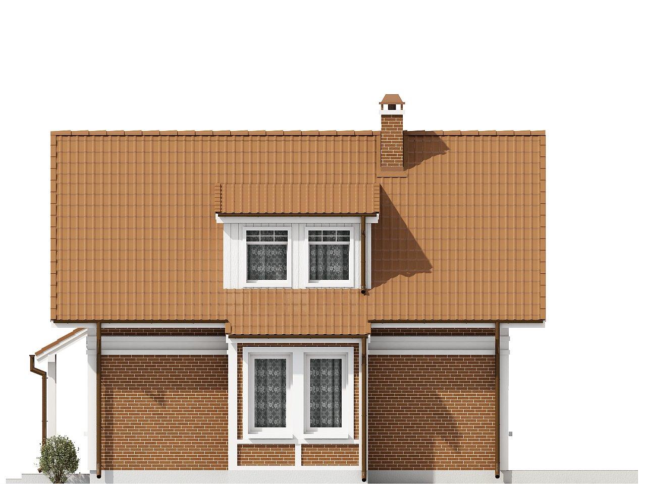 Проект компактного и функционального дома с кабинетом на первом этаже. 5