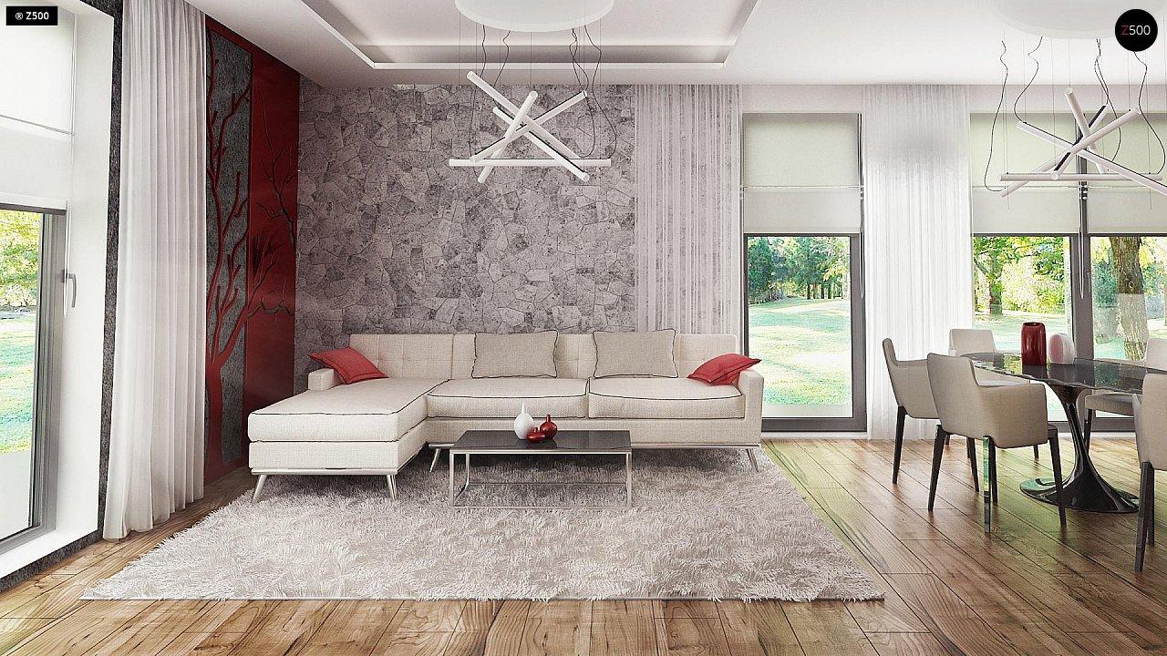 Проект стильного одноэтажного дома с функциональной планировкой - фото 7