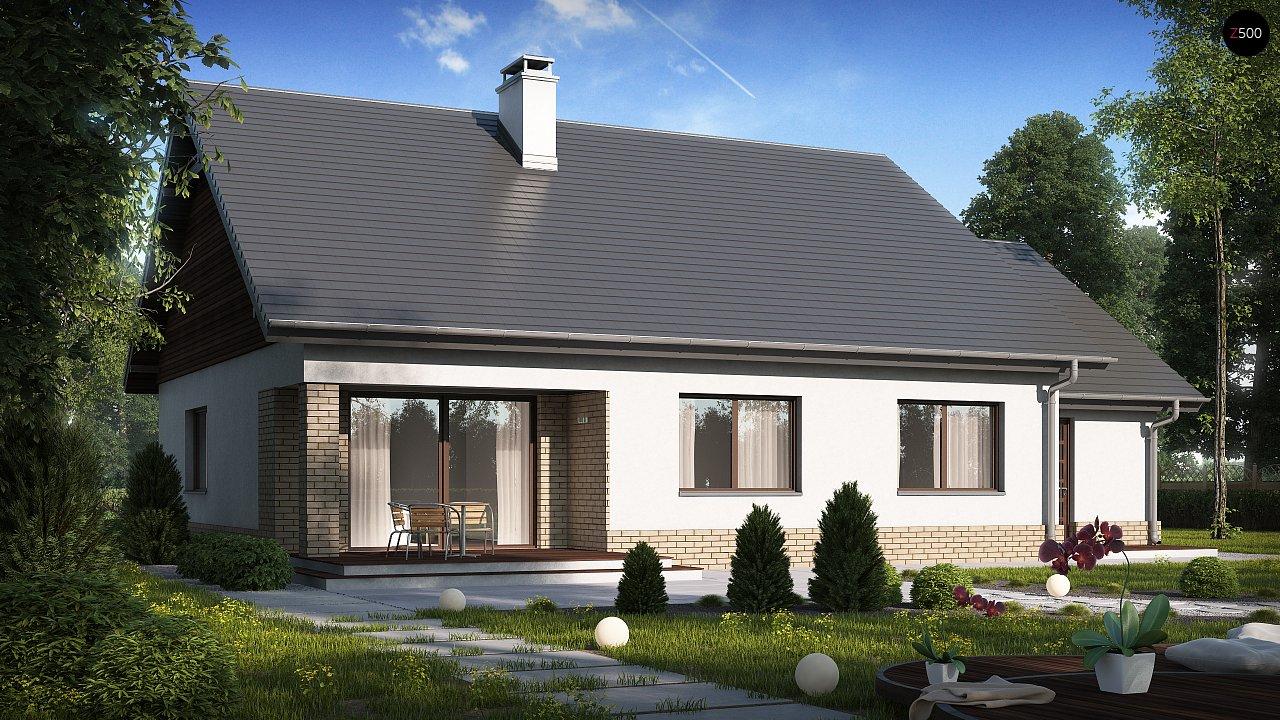 Проект традиционного одноэтажного дома с возможностью обустройства мансарды. 3