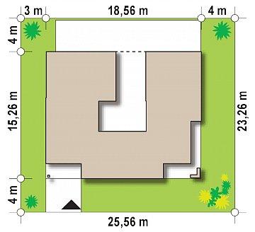 Проект дома в современном стиле с закрытой террасой план помещений 1