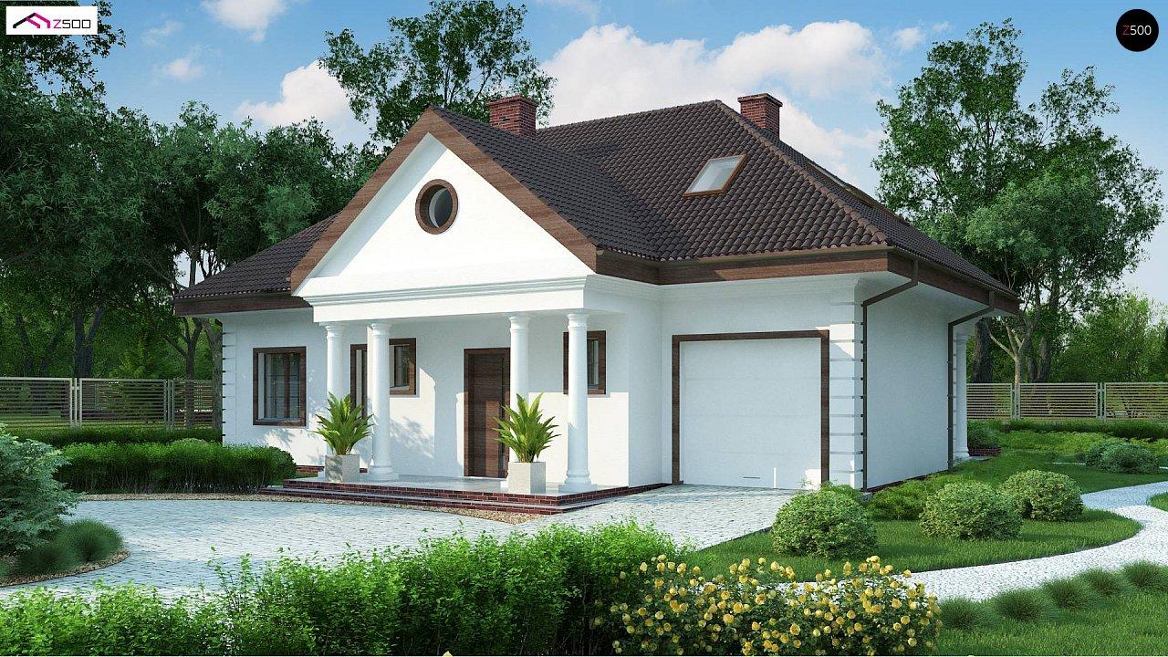 Проект дома в классическом стиле с роскошной мансардой и стильным экстерьером. - фото 1