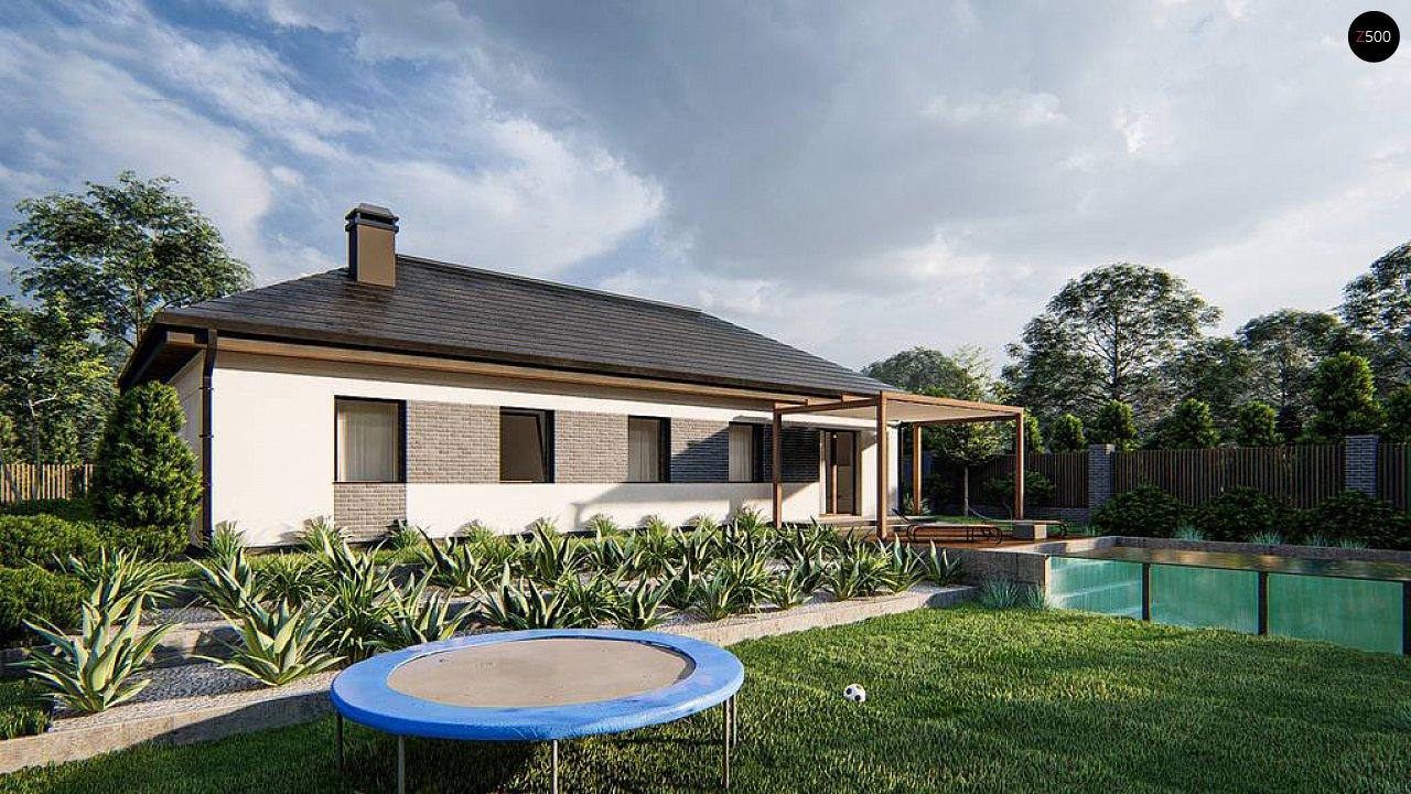 Одноэтажный дом на 3 комнаты, гостиная со столовой и гараж на одну машину 4