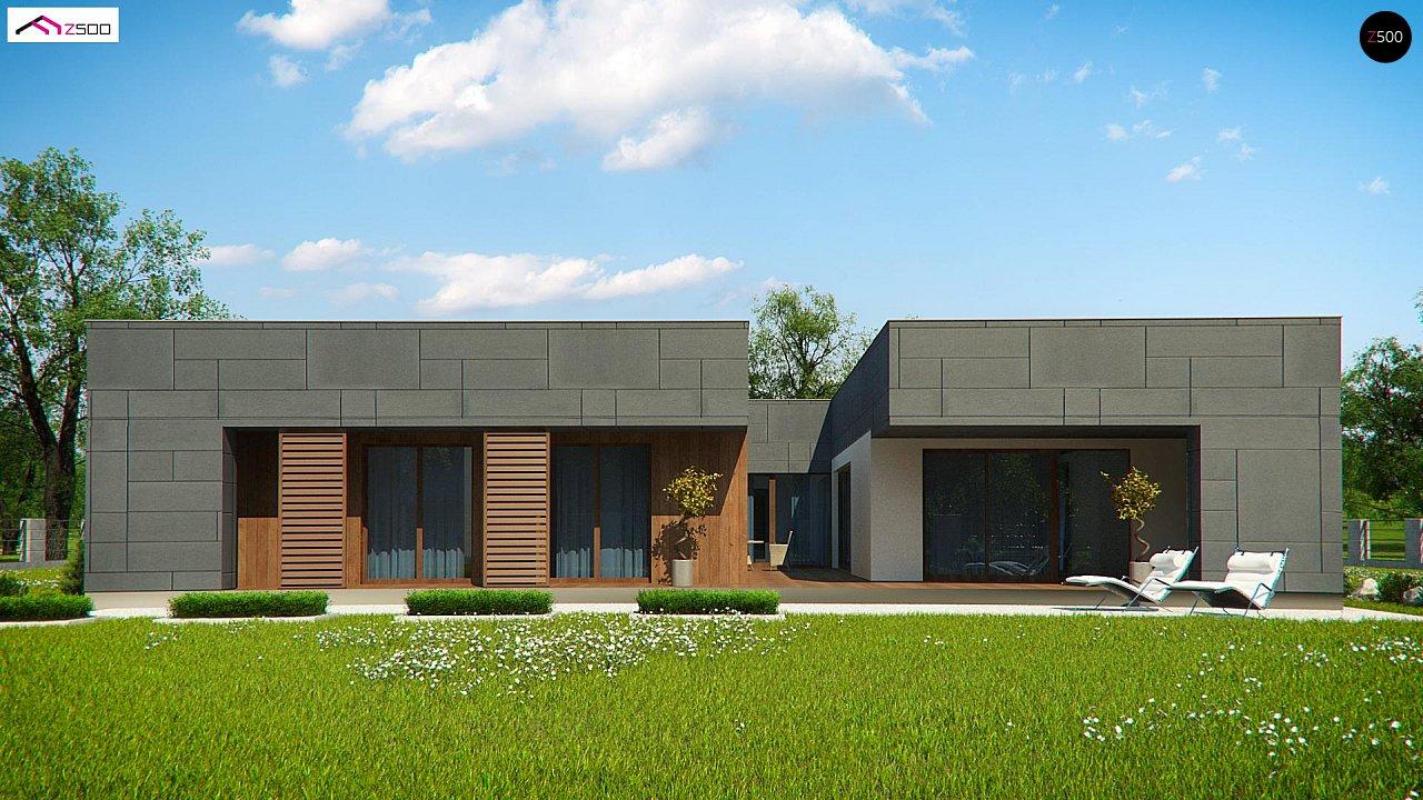 Современный односемейный одноэтажный дом с плоской крышей - фото 4