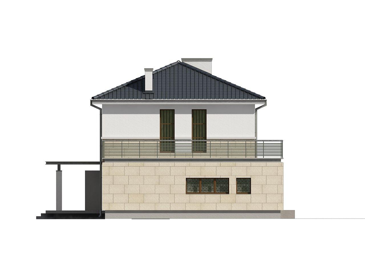 Современный двухэтажный дом простой формы с террасой на втором этаже. - фото 6